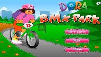 Даша едет в парке на велосипеде