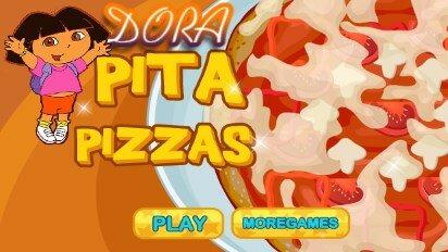Даша готовит пиццу