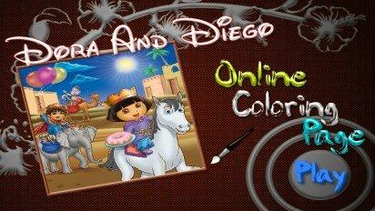 Раскраска с Дашей и Диего