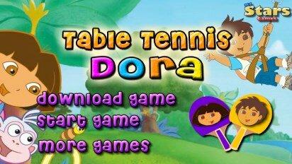 Диего и Даша играют в настольный теннис