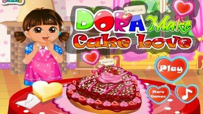 Даша готовит любовный торт