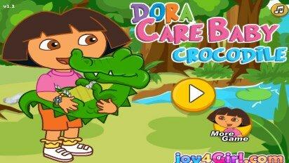 Даша ухаживает за крокодилами