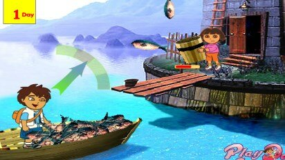 Диего и Даша на рыбалке