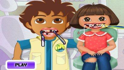 Диего и Даша у стоматолога