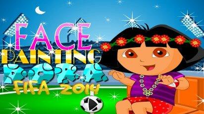 Раскраска лица Даши ФИФА 2014