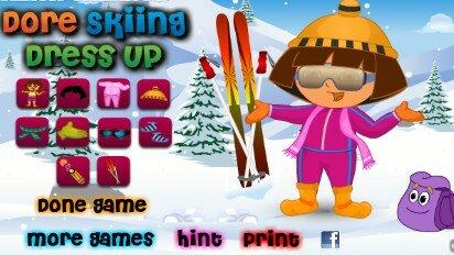 Даша лыжница