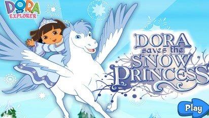 Даша спасает снежную принцессу