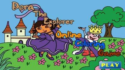 Онлайн раскраска с Дашей